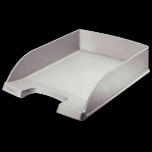 Leitz Briefablage Plus Standard Kunststoff / stapelbar  A4+ längs grau