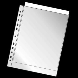 Prospekthülle PP  /  0,045mm oben offen A4 transp./genarbt