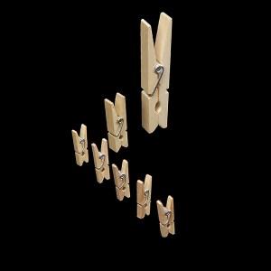 Wäscheklammer Mikro Holz 45er Pack