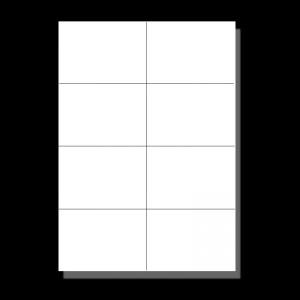 Etiketten weiß DIN A7 (105x74mm²)