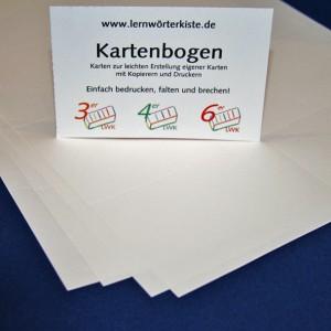 Karteikarten für Drucker/Kopierer