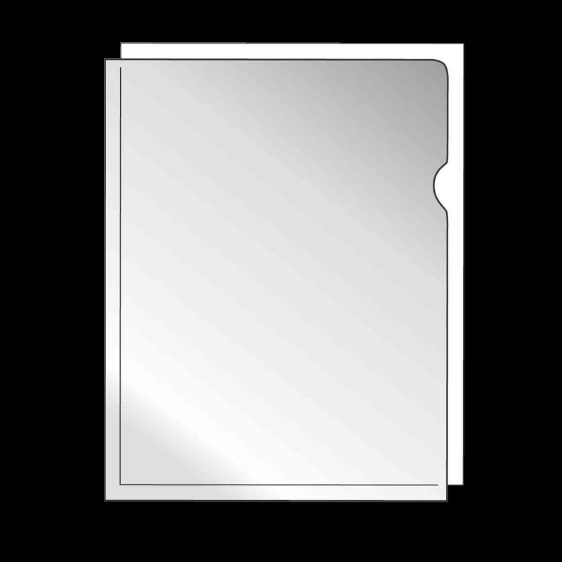Dokumenthülle A4 transp./genarbt 30er-Pack