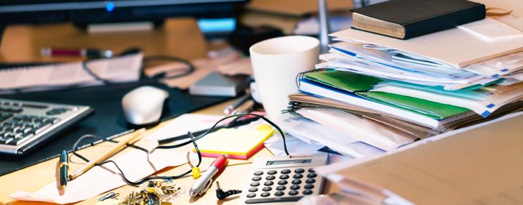 Ordnung im Büro