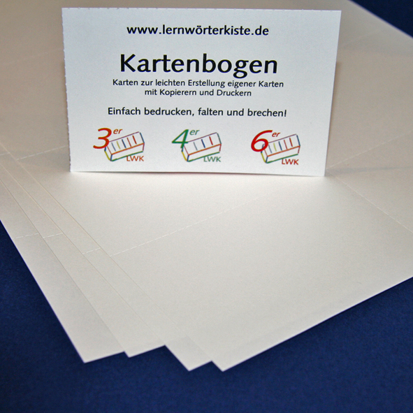 Karteikarten für Drucker/Kopierer-900308