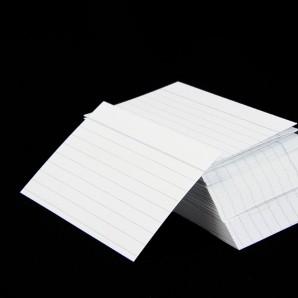 Karteikarten A7 weiß liniert