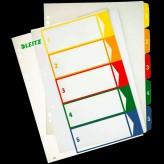 Leitz Zahlen Kunststoff-Register Kunststoff Eurolochung A4 überbreit farbiger Verlauf