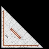 Geometrie-Dreieck mit Griff, abnehmbar 250 mm