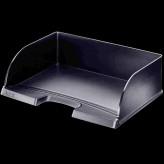 Leitz Briefablage Plus Jumbo Kunststoff / stapelbar  A4+ quer grau