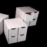 Schubladenboxen 4er Würfel