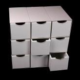 Schubladenboxen 9er Würfel