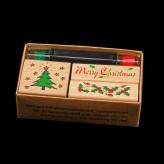 """Belohnungsstempel / Motivstempel Set """"Weihnachten"""" klein"""